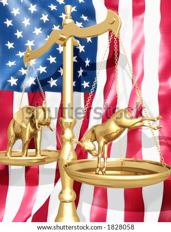 Election Scale - stock photo