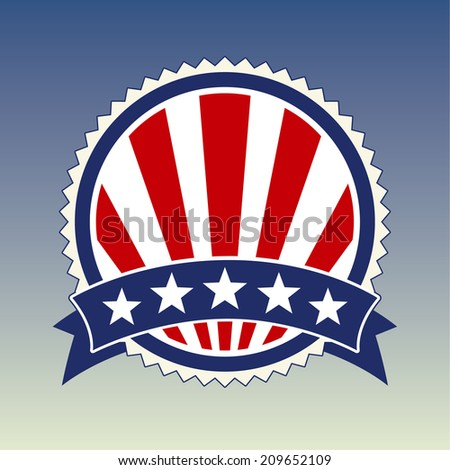 Election Vote Elements. Raster copy of vector file. - stock photo