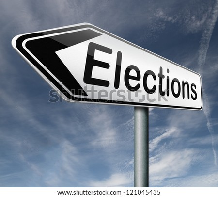 elections free election for new democracy local national voting poll - stock photo