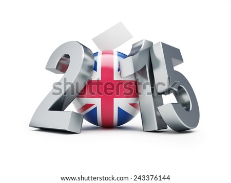 elections in England 2015 3d Illustrations on a white background