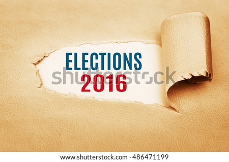 Elections 2016. Politics concept. Presidential election day. Voting, ballot.