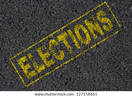 Elections sign background