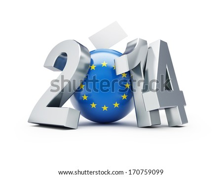 Elections to the European Parliament 2014 - stock photo