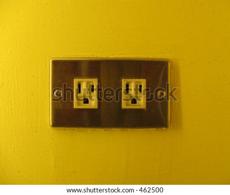 electrial outlets, which look like shocked people.