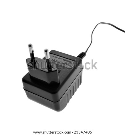 Electric adapter isolated on white background