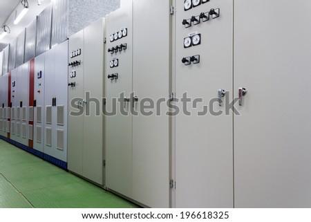 Electric amperage control room  - stock photo
