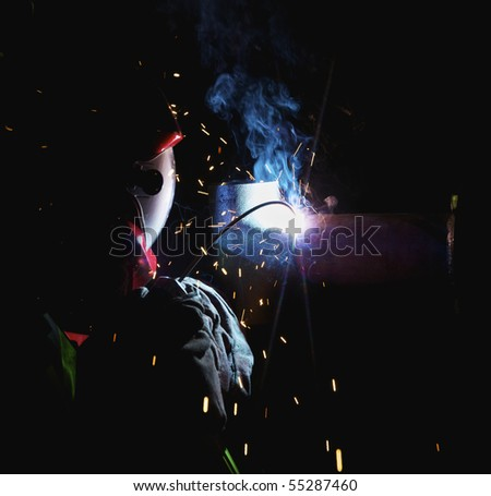 Electric Arc Welding - stock photo