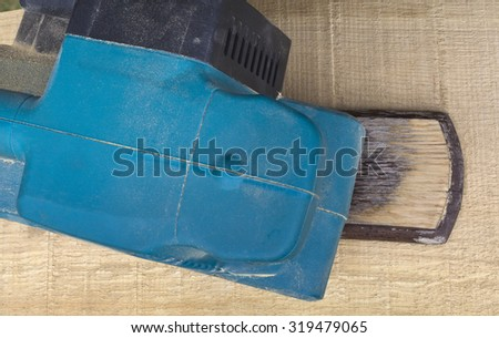 Electric Belt Sander Power Tool - stock photo