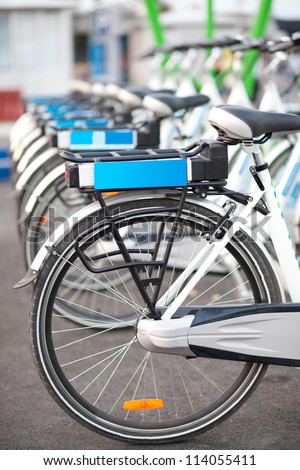 electric bicycles - stock photo