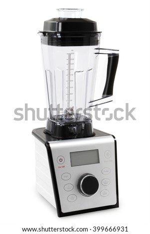 Electric blender. Kitchen appliance, equipment isolated on white - stock photo