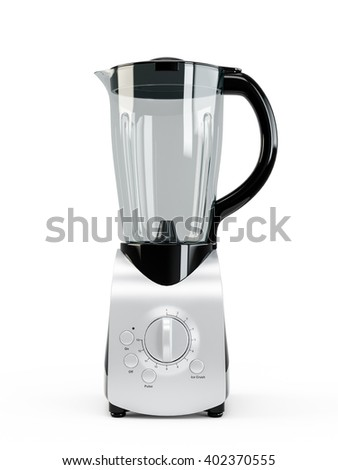 Electric blender. Kitchen appliance, equipment isolated on white background. 3D Rendering, 3D Illustration - stock photo