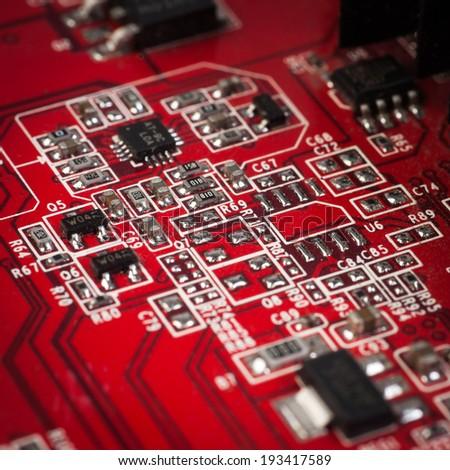 Electric board - stock photo