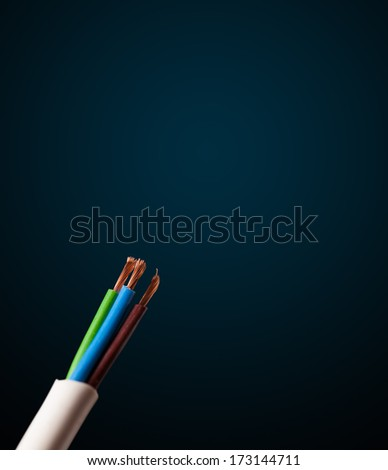 Electric cable with empty space - stock photo