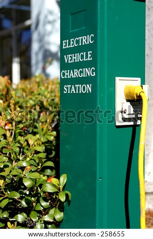 Electric car charging station in celebration florida united states usa