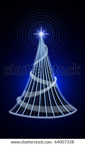 electric christmass tree - stock photo