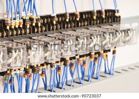 Electric components and the equipment as the process equipment - stock photo