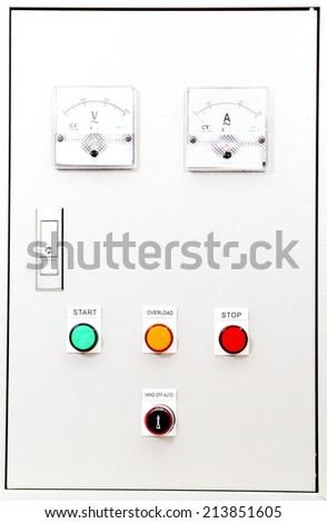 Electric Control Box  . - stock photo