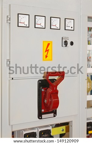 Electric Control Panel Board With Main Switch