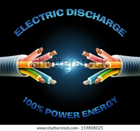 electric discharge - stock photo