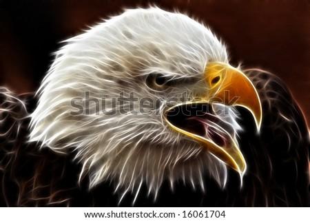 Electric Eagle - stock photo