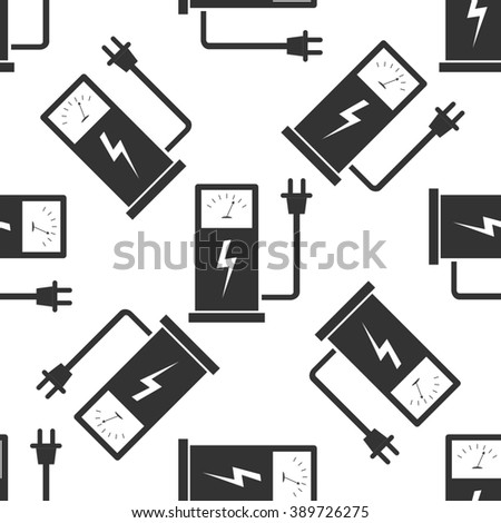 Electric energy supply for cars icon pattern / Electric energy supply for cars pattern Image / Electric energy supply for cars pattern Art / Electric energy supply for cars seamless pattern - stock photo