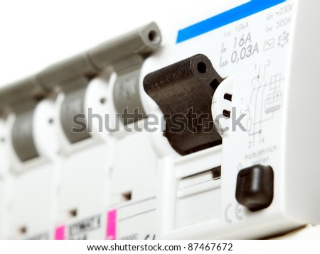 Electric fuses - stock photo