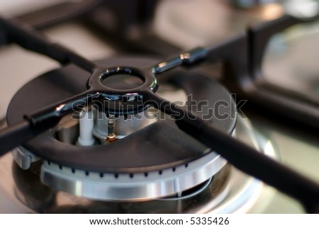 Electric gas cooker close up - stock photo