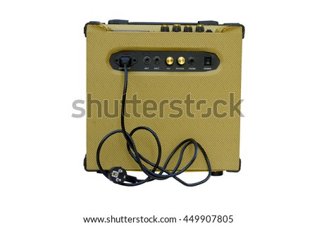 electric guitar amplifier isolated on white background, with clipping paths. - stock photo
