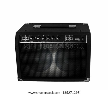 Electric guitar amplifier on isolated
