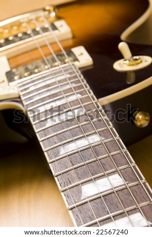 electric guitar background (close-up)
