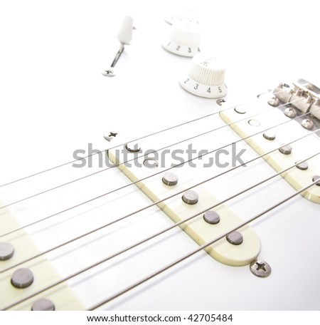 Electric Guitar Body - stock photo