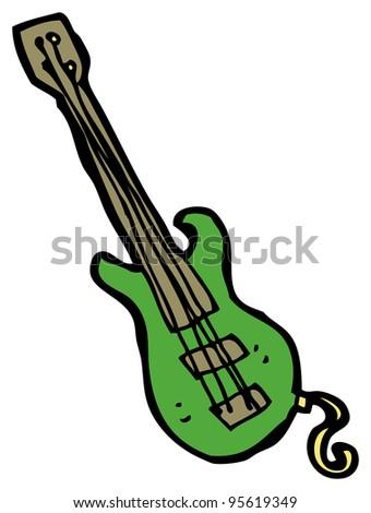 electric guitar cartoon - stock photo