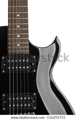 Electric guitar close-up - musical background - stock photo