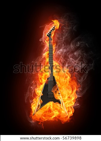 Guitar On Fire Stock Images, Royalty-Free Images & Vectors ...