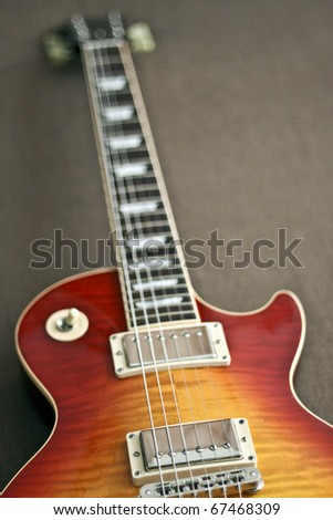 Electric Guitar in Les Paul style - stock photo