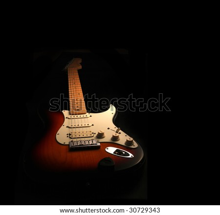 Electric guitar isolated - stock photo