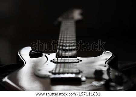 electric guitar rock - stock photo