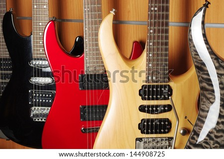Electric Guitars - stock photo