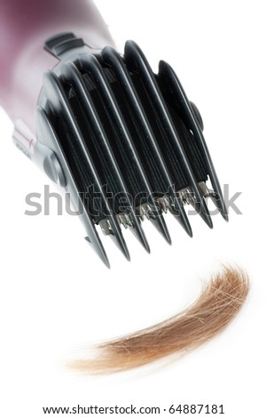 Electric hair style cutter isolated over white