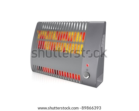 Electric heater - stock photo