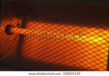 Electric heater close up detail  - stock photo