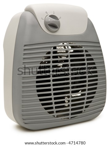 Electric Heater - isolated on white - stock photo