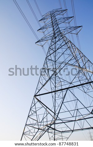 electric high voltage power - stock photo