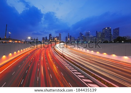 Electric Highway  - stock photo