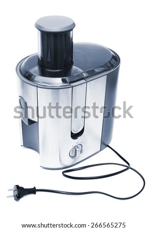 electric juicer on a white background - stock photo