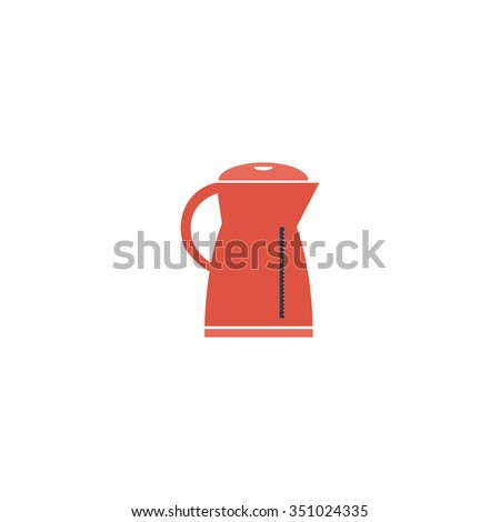Electric kettle. Colorful pictogram symbol on white background. Simple icon