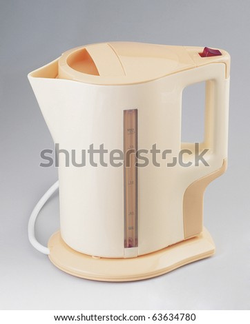 Electric kettle isolated on a plainbackground