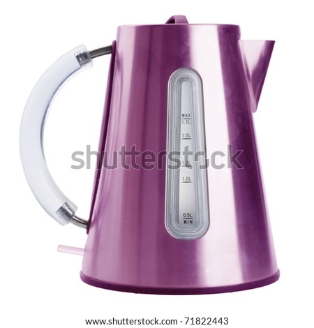 electric kettle isolated on white background with clipping path - stock photo