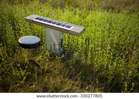 Electric Keyboard - stock photo