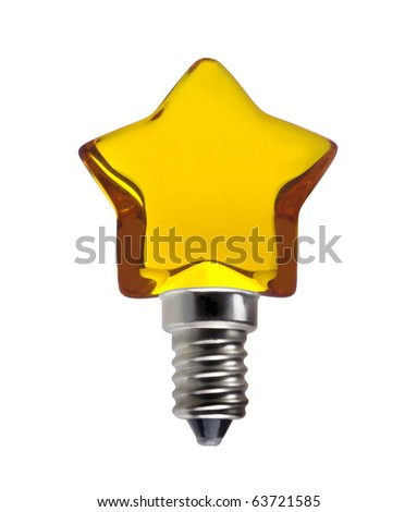 Electric light star bulb means good ideas isolated on white - stock photo